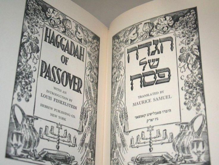 Passover Haggadah Prayer Book English Hebrew Jewish Sheet Music Pesach 1942