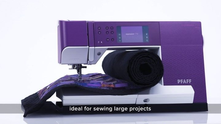 Pfaff S Instagram Video The Sewing Area To The Right Of The Needle On The Expression 710 And The Quilt Expression 720 Is Ne Pfaff Sewing Instagram Video