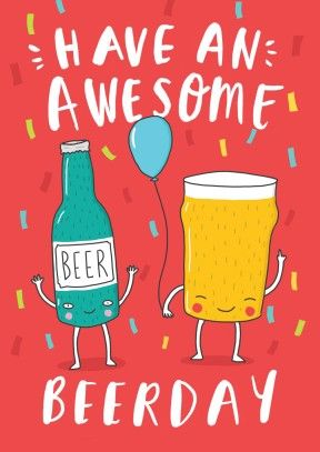 Happy Beerday |birthday card | BC1845