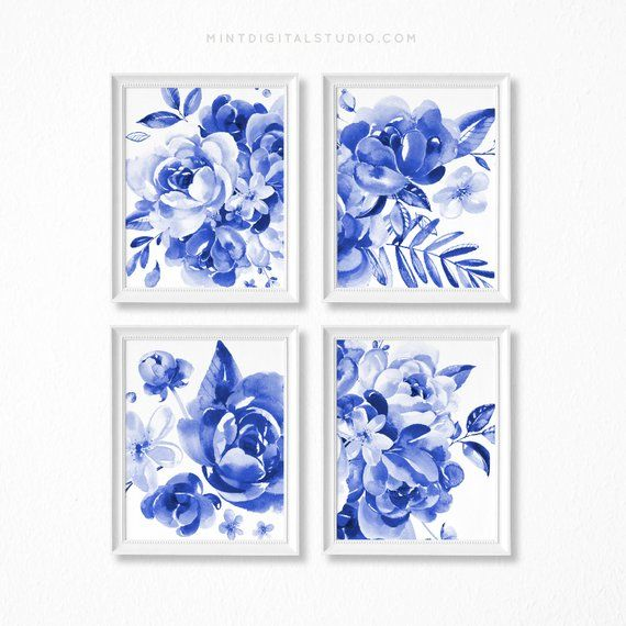 Elegant Flower Collection 11x14 matted 8x10 Photo Wall Art 4 photo collection