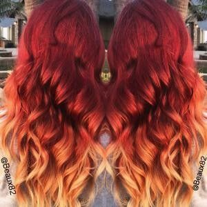 553 Best Fire Red Orange Ombre Hair Images On Pinterest
