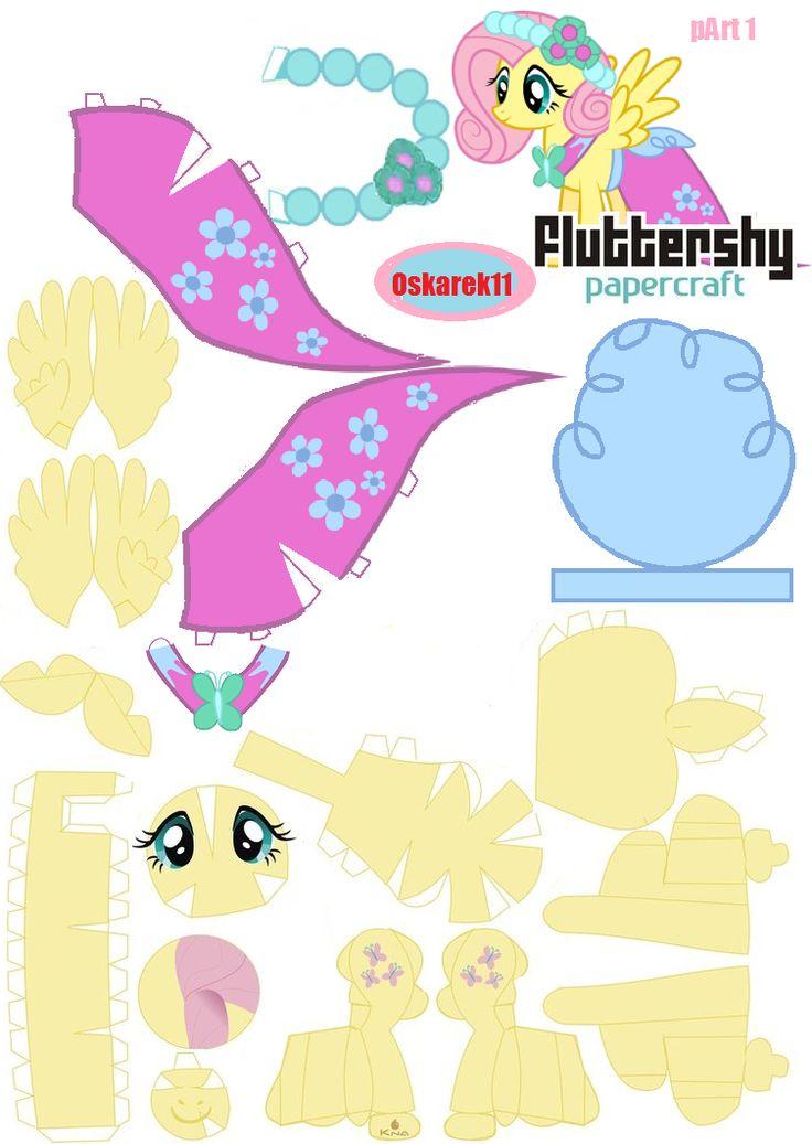 PaperCraft Fluttershy Royal Wedding Part 1 by oskarek11.deviantart.com on @deviantART