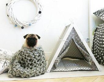 Tipi para perro tienda de la cama para mascota por DogAndTeepee