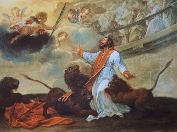 Martyrdom of St. Ignatius of Antioch, Pier Leone Ghezzi; Romapedia 11 DSC_0939.jpg (1280×954)