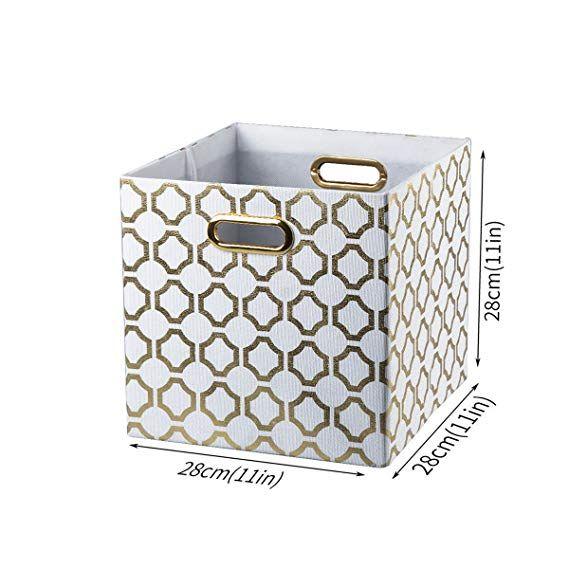 b5431aa3fa33 Amazon.com: BAIST Cube Storage Bins,Fancy Foldable Canvas Decorative ...