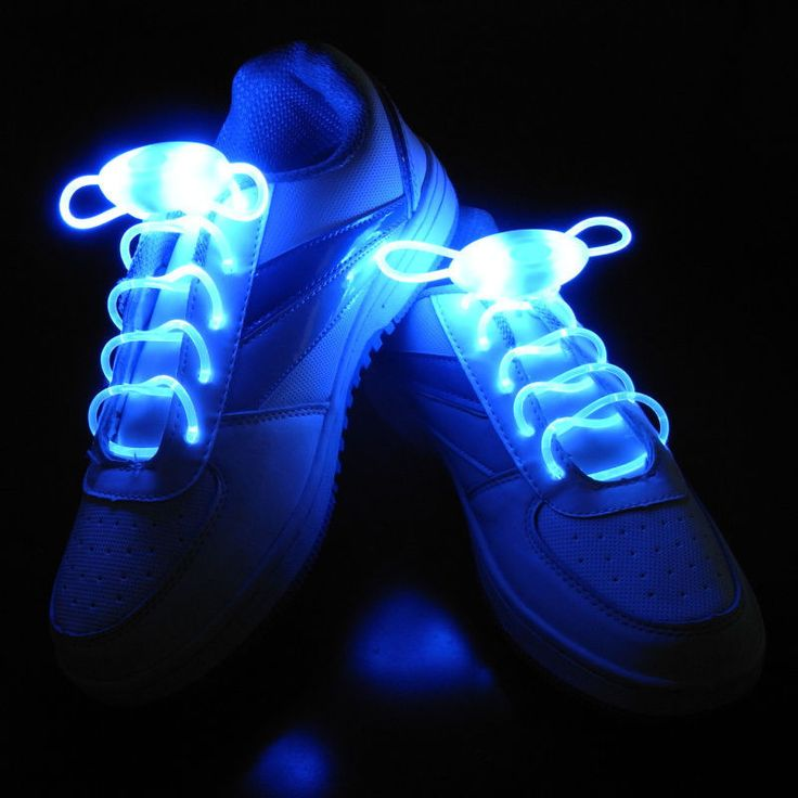 Blue Led Light Up Shoelaces