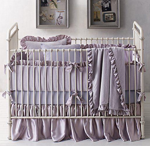 Washed Velvet & Vintage-Washed Italian Sateen Nursery Bedding Collection