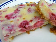 Lemon raspberry bars. Uses a whole can of sweetened condensed milk so you know it's good.