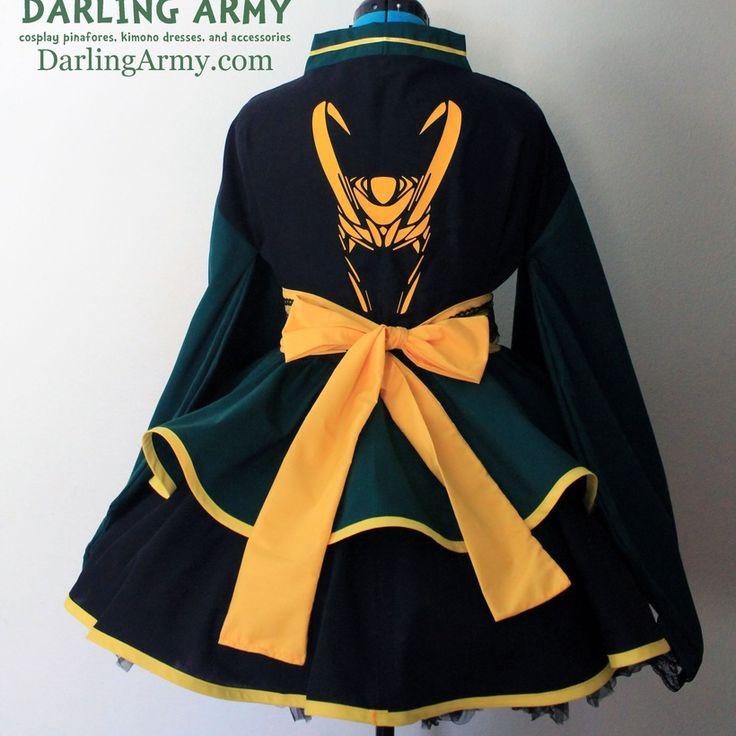 Loki Avengers Thor Cosplay Kimono Dress Wa Lolita Skirt Accessory | Darling Army