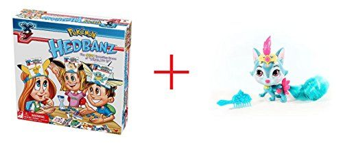 Cardinal Games Pokemon XY Hedbanz Card Game and Disney Princess Whisker Haven Tales Palace Pets 25 inch Furry Tails Friends  River the Wolf Cub  Bundle *** BEST VALUE BUY on Amazon-affiliate link