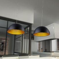 Schicke Pendelleuchte Wida aus Metall und satiniertem Acryl inkl. LED-Leucht... | HELESTRA | - Click-Licht.de