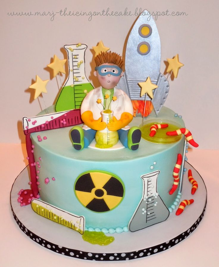 Mad Scientist/Rocket Scientist cake, from The Icing on the Cake.