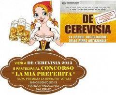 """Sabato 8 e domenica 9 giugno """"De Cerevisia"""", la grande degustazione di birre artigianali. - http://virgiliosalerno.myblog.it/archive/2013/05/31/de-cerevisia-salerno-festa-birra-2013.html"""