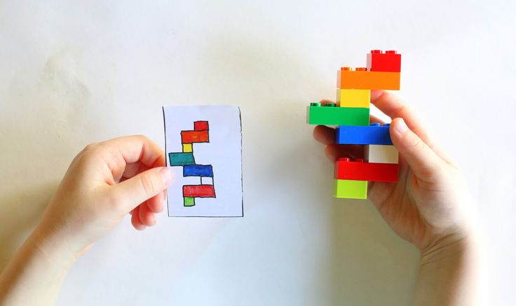 DIY Portable LEGO Kit with 24 Free Printable Activity Cards from Fun at Home with Kids. Awesome!