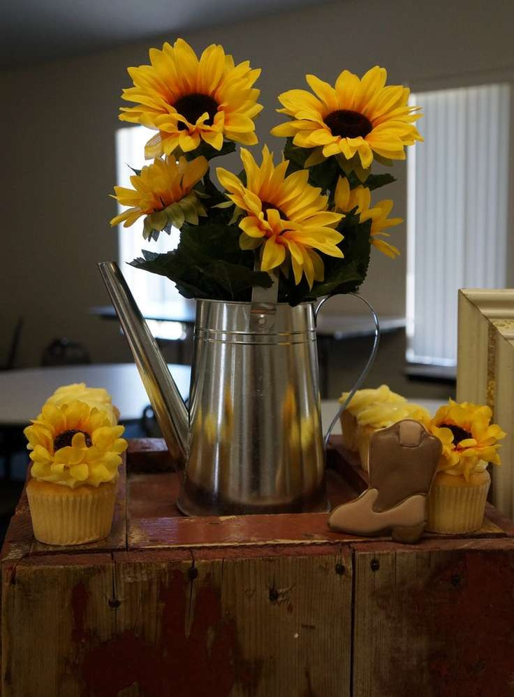Counrty Sunflowers Bridal Wedding Shower Party Ideas