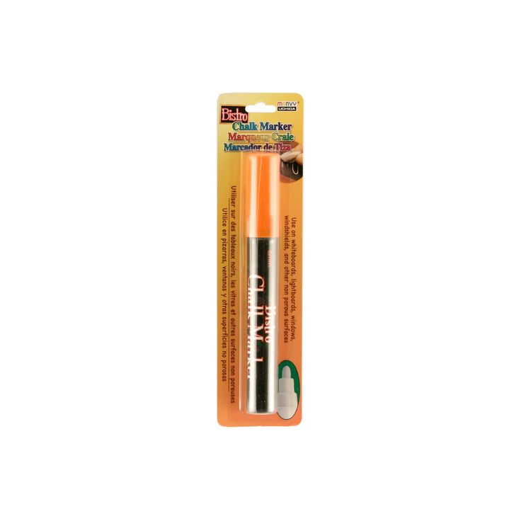Bistro Chalk Marker 6mm Bullet Tip 1/Pkg - White - Fluorescent Orange