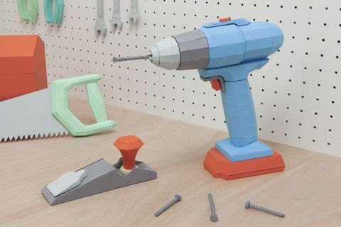REVERBERE , papercraft, drill