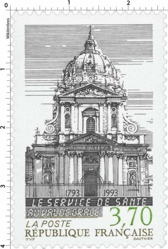 Timbre : LE SERVICE DE SANTÉ AU VAL DE GRACE 1793-1993   WikiTimbres