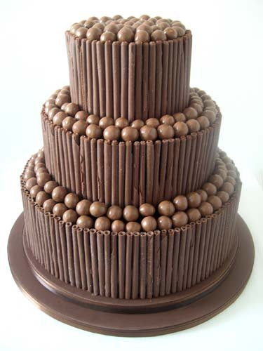 chocolate wedding cakes by lilayus, via Flickr
