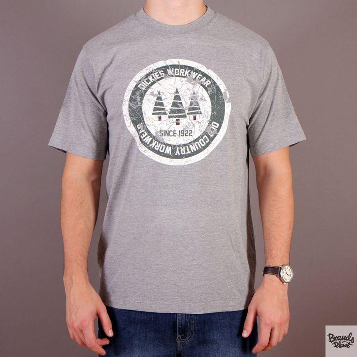Szara koszulka męska Dickies T-shirt Allendale Gray Melange kolekcja Fall/Winter 2014 / www.brandsplanet.pl / #dickies streetwear