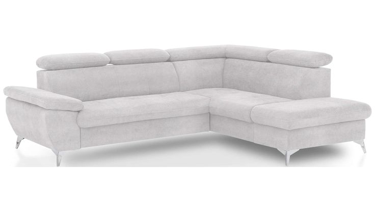 Canape D Angle Droit Convertible 4 Places Ally 2 Coloris Blanc En Pu Canape Angle Convertible Et Blanc