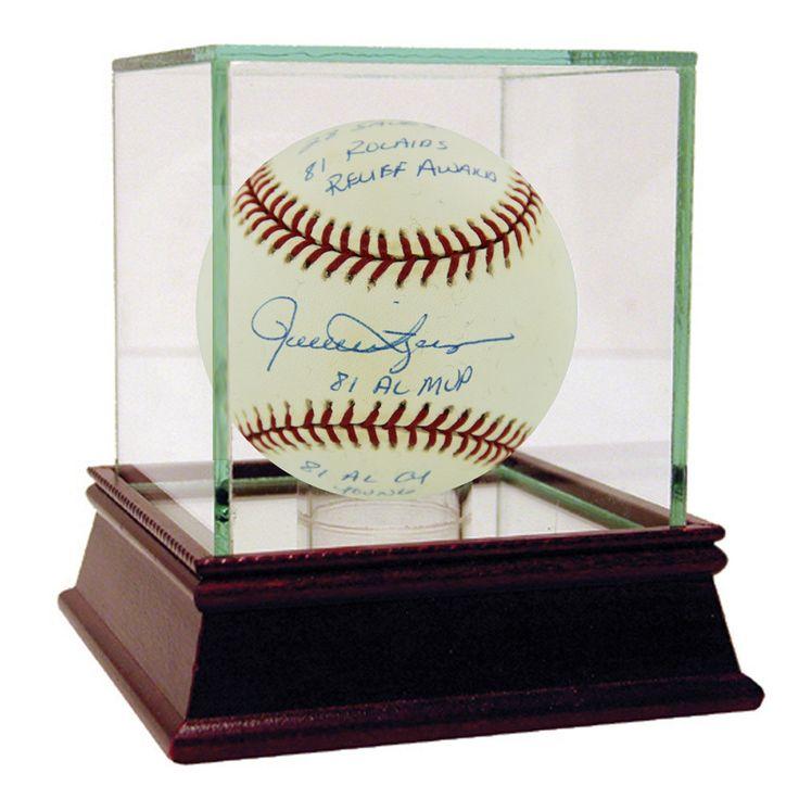 Rollie Fingers Signed Baseball w/ Multi Inscriptions Reggie Jackson Auth