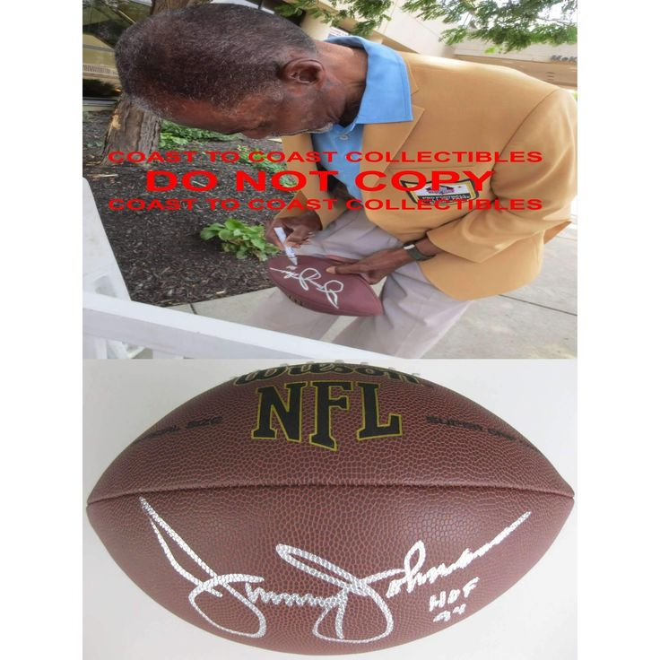 Jimmy Johnson, San Francisco 49ers, Ucla Bruins, Signed, Autographed, NFL Football, a COA with the Proof Photo of Jimmy Signing the Football Will Be Inlcuded