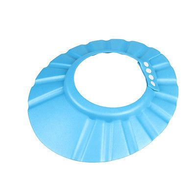 Adjustable Baby Kids Shampoo Cap Bath Shower Cap Hat Wash Hair Shield Blue.. USD 0.99