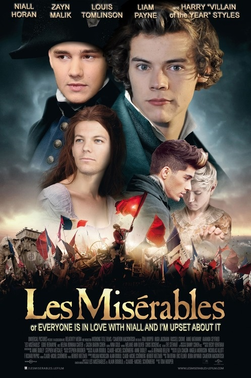 one direction as les miserables=too perfect