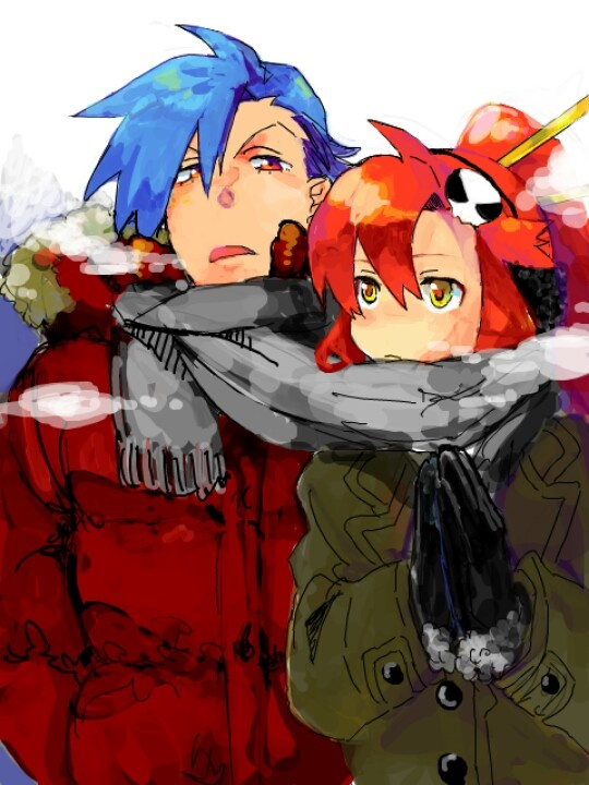 Yoko and Kamina | Otaku | Pinterest | Gurren lagann, Anime ...