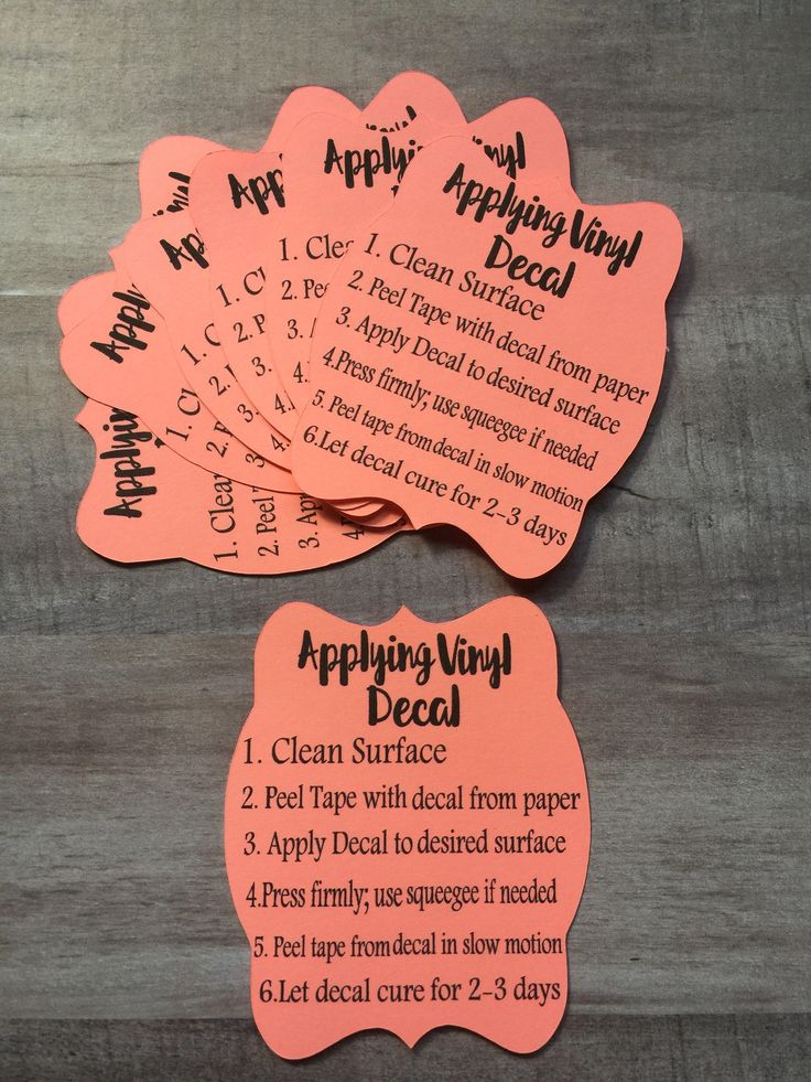 40 Applying Decal Instructions safety care cards wholesale