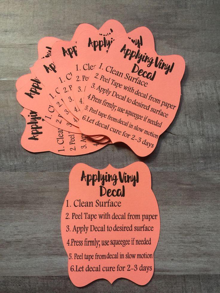 how to apply vinyl decal cricut