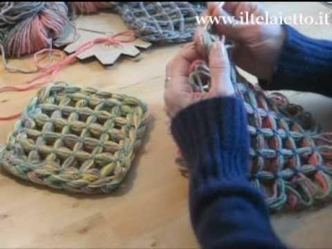 butterfly loom - 3 modi per unire i quadrati - YouTube