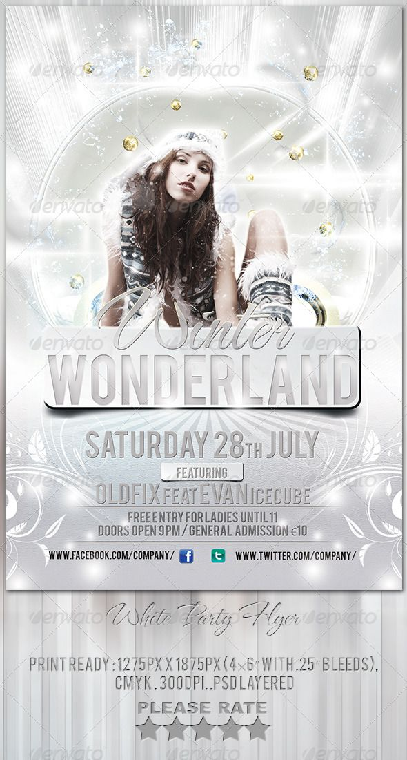 White Party Flyer Template Party flyer, Flyer template and Template - flyer layouts free