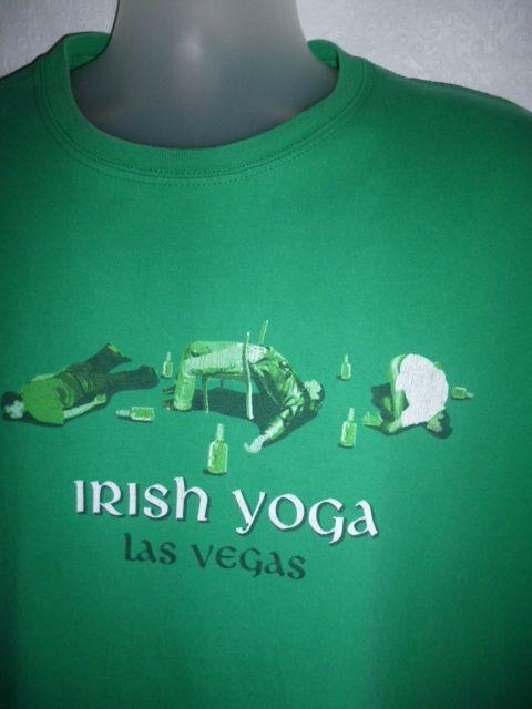 St Patricks Day tshirt Tee IRISH YOGA Las Vegas Drunk Men Drunken Comfort 2XL #Gildan #BasicTee