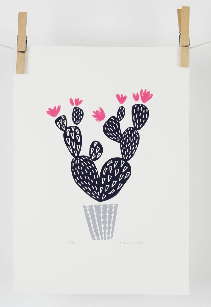 Cactus screen print - maggiemagoo designs