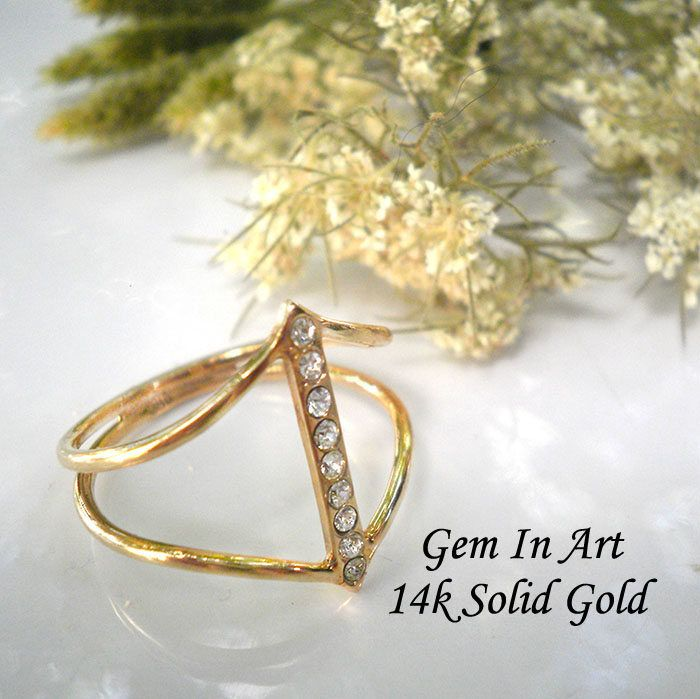 Gold arrow ringdouble band ringdainty gold ringminimalist