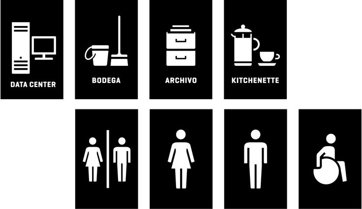 Pictogram family developed for the Innovation Centre Anacleto Angelini
