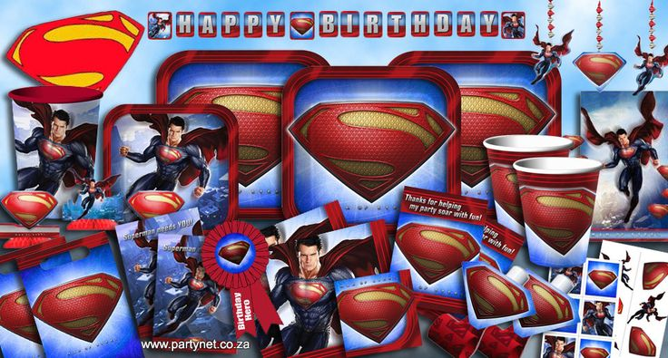 Superman Party Supplies, Ideas, Accessories, Decorations, Games - PartyNet