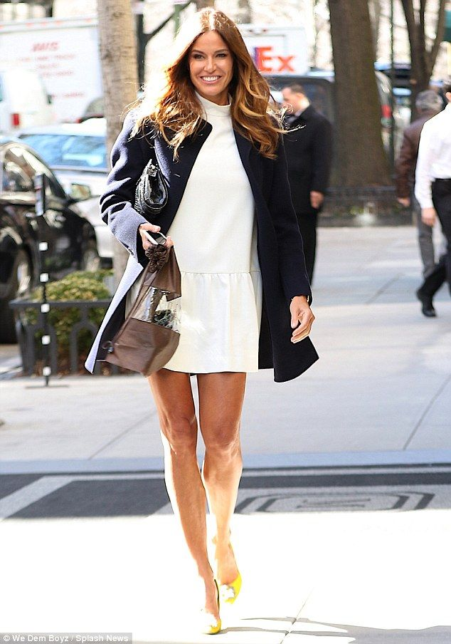 46 yo Lovely lady: Kelly Bensimon was spring chic as she strutted around New York