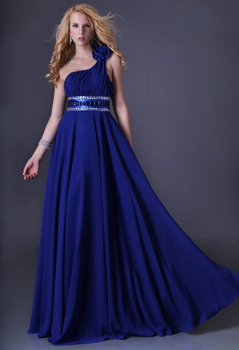 2012 Elegant Long Prom Dress Ball Gown Evening Cocktail Party Dress One Shoulder | eBay
