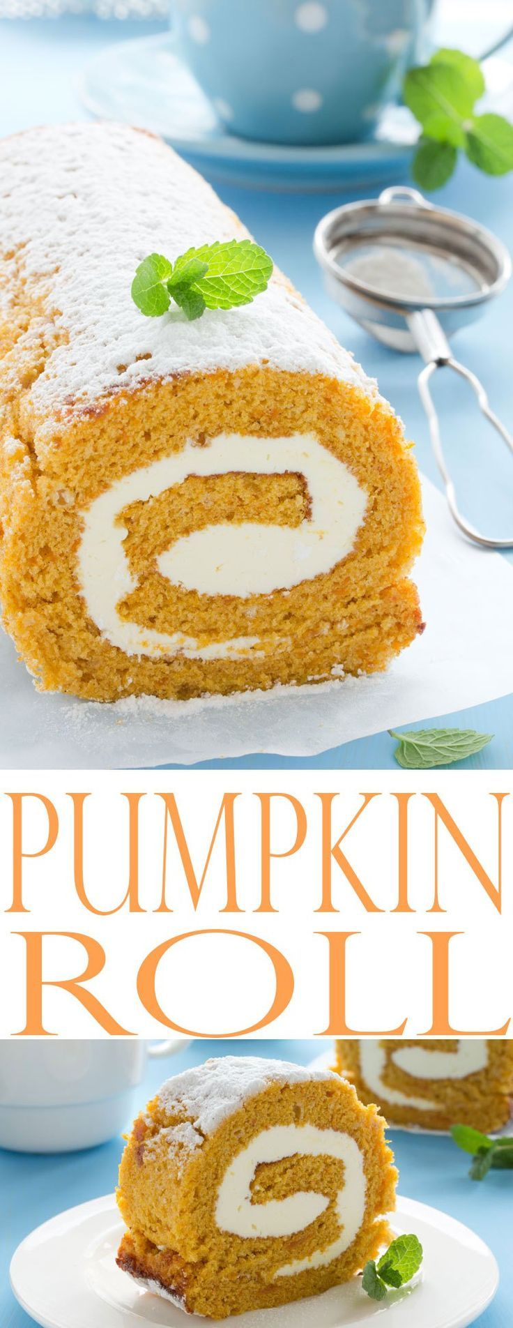 Pumpkin Roll recipe is a classic fall cake recipe that looks just as gorgeous as it tastes. Pumpkin recipes for fall baking are here!