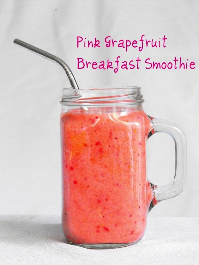 8 Popular Powerhouse Smoothies - 8 Popular Powerhouse Smoothies - Pink Grapefruit Breakfast Smoothie!