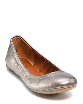 "Lucky Brand ""Emmie"" Metallic Ballet Flats 