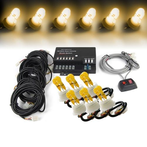 Strobe Lights For Cars Entrancing Xprite Amber 120W 6 Hid Bulbs Hideaway Strobe Lights  Emergency