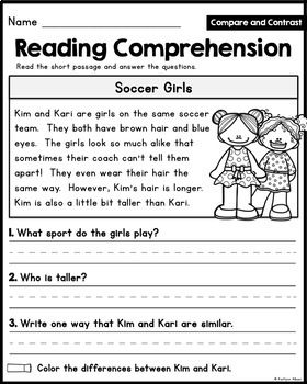 reading comprehension passages compare and contrast little readers reading comprehension. Black Bedroom Furniture Sets. Home Design Ideas