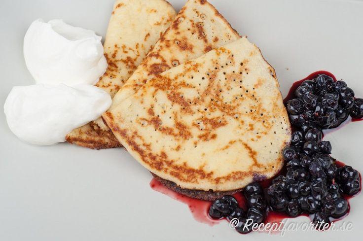 LCHF-pannkakor med mandelmjöl