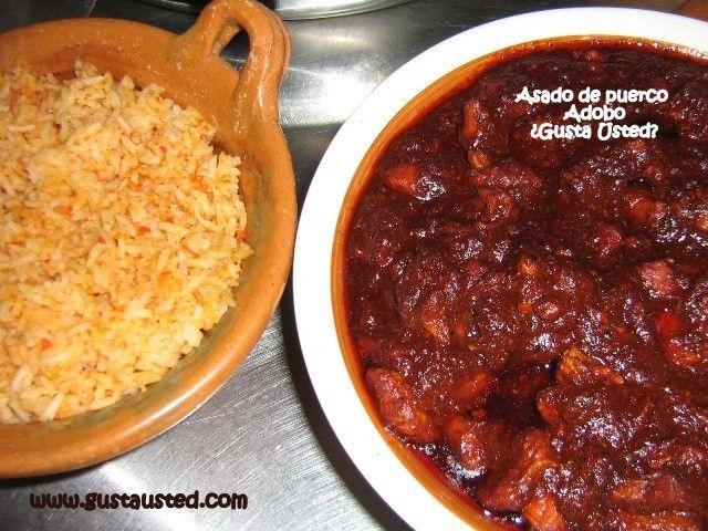Adobo de puerco. Ver receta: http://www.mis-recetas.org/recetas/show/18763-adobo-de-puerco