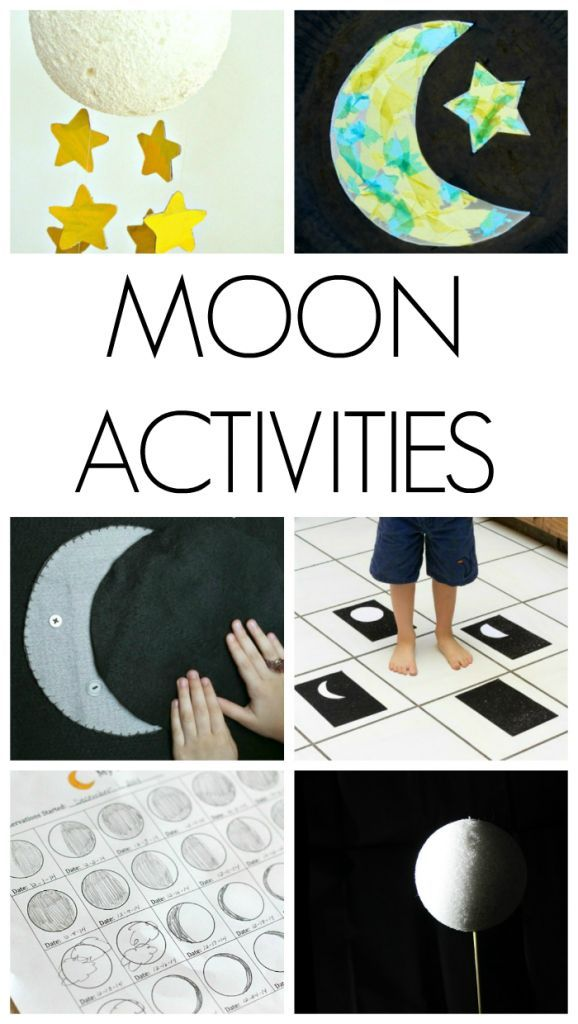 These are awesome moon activities for kids. Great ways to get kids excited about space and the moon. ad