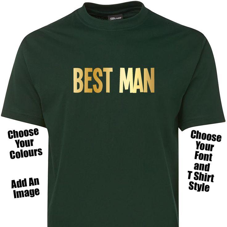 Best Man T Shirt or Singlet